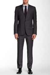 Ben Sherman Camden Two Button Notch Lapel Wool Suit Gray