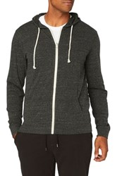 Threads For Thought Giulio Zip Hoodie Heather Black