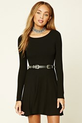 Forever 21 Cutout Back Skater Dress Black
