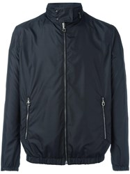 Salvatore Ferragamo Band Collar Double Sided Jacket Black