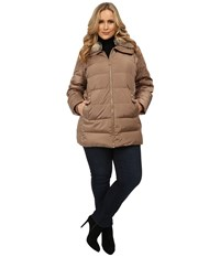 Michael Michael Kors Plus Size Same As Above Belted Club Truffle Women's Coat Brown