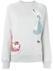 Olympia Le Tan Alice In Wonderland Patch Sweatshirt Grey