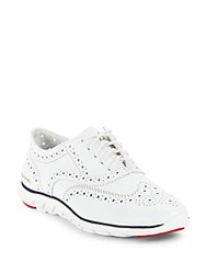 Cole Haan Zerogrand Wingtip Leather Oxfords Optic White