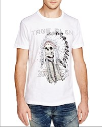 True Religion Skull Graphic Slim Fit Tee Optic White