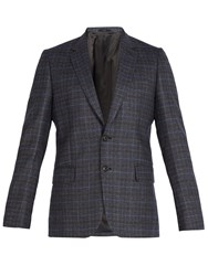 Paul Smith Soho Slim Fit Wool Suit Jacket Blue Multi