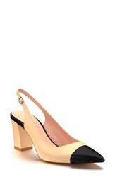 Shoes Of Prey Women's Slingback Pump Camel Leather