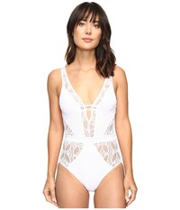 Becca Color Play One Piece White Women's Swimsuits One Piece