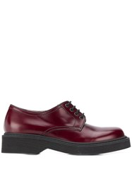 Marni Lace Up Shoes Red