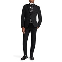 Givenchy Worsted Wool Two Button Suit Black
