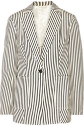 3.1 Phillip Lim Striped Canvas Blazer Ivory