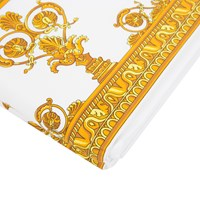 Versace Barocco And Robe Flat Sheet 270X300cm White Gold