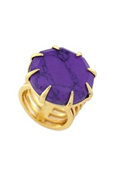 Vince Camuto Howlite Ring Gold Purple