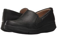 Hush Puppies Rapidly Mardie Black Leather Women's Slip On Dress Shoes