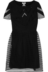 Alice By Temperley Angelina Tulle And Crepe Dress Black