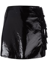Kenzo Faux Patent Leather Mini Skirt Black