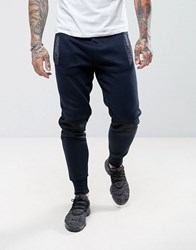 Another Influence Airtex Panel Jogging Bottoms Navy