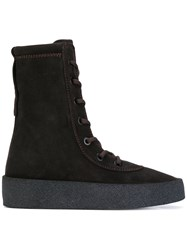 Yeezy Crepe Boots Women Calf Leather Leather Rubber 40 Brown