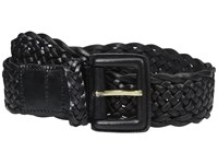 Cole Haan 40Mm Braided Veg Leather Belt With Covered Harness Buckle Black Women's Belts