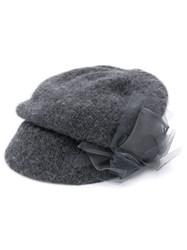 Ca4la Ribbon Detail Flat Cap Grey