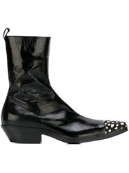 Haider Ackermann Toe Cap Detail Boots Black