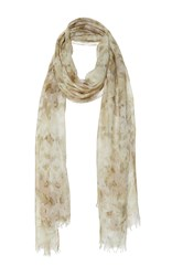 Aerin Military Floral Print Scarf Green