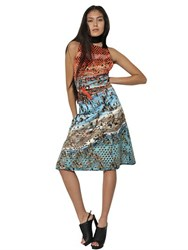 Proenza Schouler Studded And Printed Silk Duchesse Dress