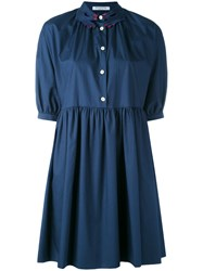 Vivetta Hand Collar Dress Women Cotton 44 Blue