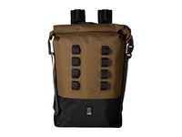 Chrome Urban Ex Rolltop 28L Ranger Black Bags Brown