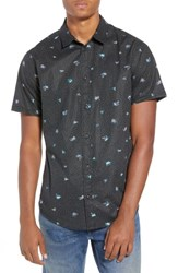 Rvca Scattered Print Woven Shirt Rvca Black