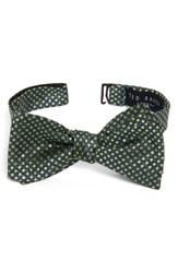 Ted Baker Men's London Tussah Party Dot Silk Bow Tie Green