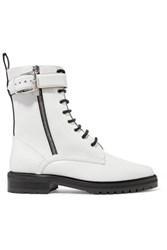 Tabitha Simmons Max Leather Ankle Boots White