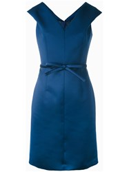 Paule Ka Bow Waist Dress Blue