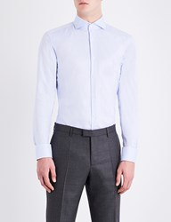 Boss Slim Fit Cotton Shirt Light Pastel Blue