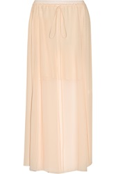 See By Chloe Pleated Chiffon Maxi Skirt