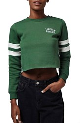 Petite Women's Topshop 'Lincoln' Crewneck Crop Sweatshirt