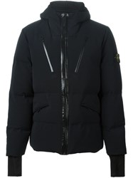 Stone Island Padded Hooded Jacket Black