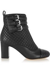 Tabitha Simmons Nash Quilted Leather Ankle Boots Black