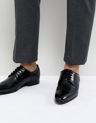Ted Baker Ollivur Leather Brogue Shoes In Black