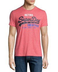 Superdry Retro Graphic Tee Grit Tag Red