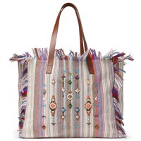 And Or Avalon Jewelled Stripe Tote Bag Multi