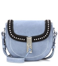 Altuzarra Ghianda Saddle Mini Suede Shoulder Bag Blue