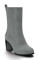 Shoes Of Prey Women's Mid Calf Boot Dark Grey Suede