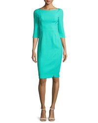 Black Halo 3 4 Sleeve Sheath Dress Mint Sorbet Women's