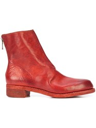 Guidi Rear Zip Boots Red