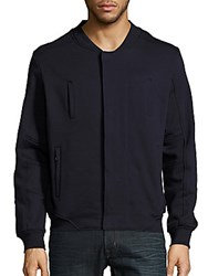 Standard Issue Nyc Cotton Blend Long Sleeve Jacket Navy