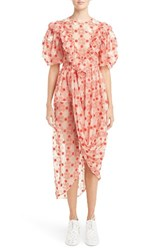 Simone Rocha Women's Embroidered Puff Sleeve Dress