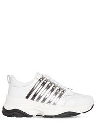 Dsquared 45Mm Bumpy 251 Leather Sneakers White