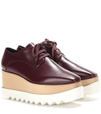 Stella Mccartney Elyse Platform Derby Shoes Red