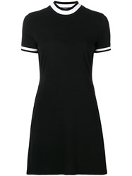Alexander Wang T By Contrast Stripe Jumper Black