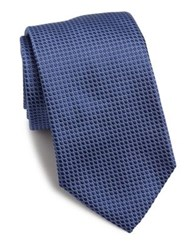 Eton Of Sweden Geometric Silk Tie Blue
